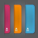 Satz Bookmarks, Aufkleber, Aufkleber, Umbauten. Nummeriert Stockbilder