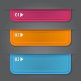 Satz Bookmarks, Aufkleber, Aufkleber, Umbauten. Nummeriert Lizenzfreie Stockbilder