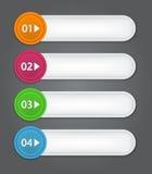 Satz Bookmarks, Aufkleber, Aufkleber, Umbauten. Nummeriert Stockfotos