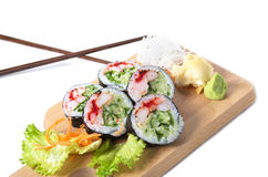 Satz Boston-Sushirollen Stockfoto