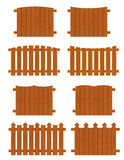Satz Bretterzaunabschnitte von verschiedenen Formen Lizenzfreies Stockbild