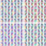 Satz bunte geometrische nahtlose Muster Lizenzfreie Stockfotografie