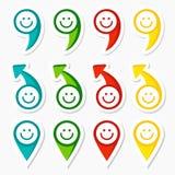 Satz infographic Elemente, Pfeile und smiley Stockbild