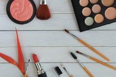 Satz bunte Kosmetik Stockfotos