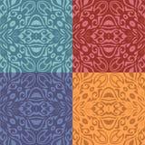 Satz bunte Muster (nahtlos mit Ziegeln decken) Lizenzfreie Abbildung