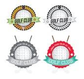 Satz bunte und einfarbige Golfclubausweise Lizenzfreie Stockbilder