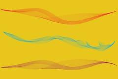 Satz bunter Nebel oder Rauch lokalisiert, transparenter Spezialeffekt Heller Trübungs-, Nebel- oder Smoghintergrund Vektor illus Stockbilder
