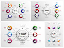 Satz buntes abstraktes Infographic-Design Stockfotos