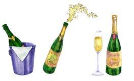 Satz Champagner lizenzfreie abbildung