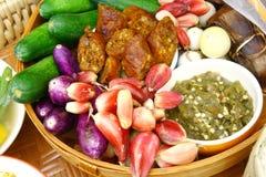 Satz Chiang Mai-Lebensmittel, Thailand Stockbilder