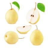 Satz chinesische Birnenfrüchte lizenzfreie stockbilder