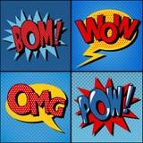 Satz Comics-Blasen in der Weinlese-Art Stockfoto