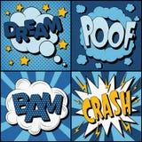 Satz Comics-Blasen in der Weinlese-Art lizenzfreie abbildung