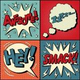 Satz Comics-Blasen im Knall Art Style Stockfotografie