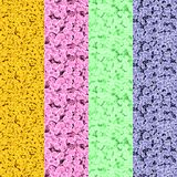 Satz computererzeugte mikroskopische Strukturen Stockbilder