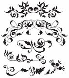 Satz dekorative Blumenelemente Lizenzfreies Stockbild