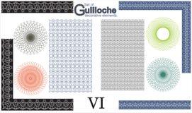 Satz dekorative Elemente des Guilloche Lizenzfreies Stockbild