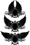 Satz dekorative heraldische Schilder Stockfotografie