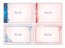 Satz dekorative Karten Lizenzfreie Stockfotos