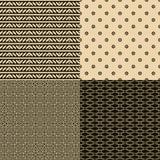 Satz dekorative nahtlose Muster Stockbild
