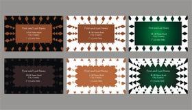 Satz dekorative Visitenkarten oder Textrahmen Stockfotografie