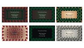Satz dekorative Visitenkarten oder Textrahmen Stockbilder