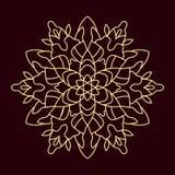 Satz der abstrakten aufwändigen Mandala Lizenzfreie Stockfotos