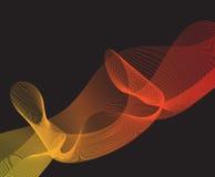 Satz der abstrakten bunten Welle lokalisierte schwarzen Hintergrund Lizenzfreie Stockfotografie