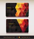 Satz der abstrakten geometrischen Visitenkarte Stockfotografie