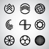 Satz der abstrakten Symbole 2 Stockfotografie