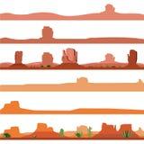 Satz der Amerika-Wüsten-Landschaft Stockbilder
