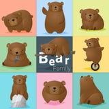 Satz der Bärenfamilie Lizenzfreies Stockfoto