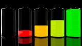 Satz der Batterie 3D Lizenzfreie Stockfotografie