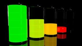 Satz der Batterie 3D Stockbild