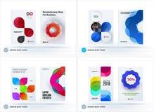 Satz der Designbroschüre, abstrakter Jahresbericht lizenzfreie abbildung