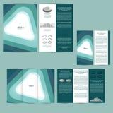 Satz der Designschablone mit Flieger, Plakat, Broschüre Für die Werbung, Unternehmensidentitä5, Geschäft und andere Druckprodukte Lizenzfreies Stockfoto