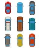 Satz der Draufsicht der Autos Lizenzfreie Stockfotos