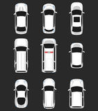 Satz der Draufsicht der Autos Stockfotos