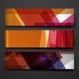 Satz der Fahnenschablone des modernen Designs in der abstrakten Art lizenzfreie abbildung