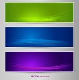 Satz der Farbfahne Lizenzfreie Stockfotografie