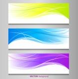 Satz der Farbfahne Stockbilder