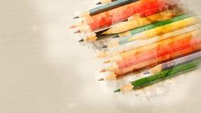 Satz der farbigen Bleistiftnahaufnahme Lizenzfreie Stockfotografie