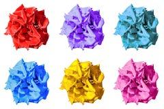 Satz der farbigen surrealen dunklen exotischen Ringelblume blüht Makro lokalisiert Stockfotografie
