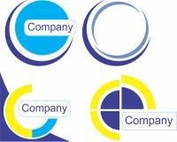 Satz der Firma und des Elements lizenzfreies stockbild