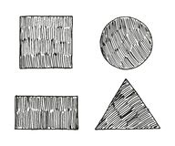 Satz der geometrischen Formskizzen-Vektorillustration Stockbild