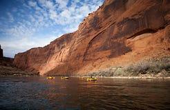Satz, der Glen Canyon, Arizona flößt stockfoto