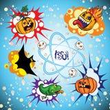 Satz der Halloween-Sprache-Blase Lizenzfreie Stockfotografie