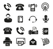 Satz der Ikone mit sechzehn Kommunikationen Stockfotos