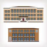 Satz der Illustration mit zwei Vektoren der Weinlese Lizenzfreie Stockfotos