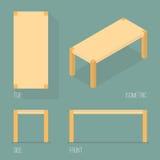 Satz der isometrischen Zeichnung der modernen Tabelle Lizenzfreies Stockbild